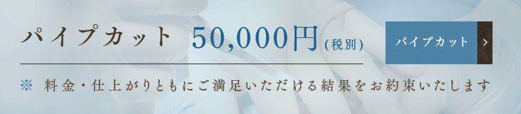 パイプカット 50,000円(税別)